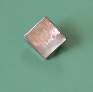 tiny sterling & mother of pearl pin - vintage jewelry