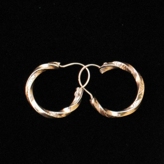 victorian gold hoop earrings - antique vintage jewelry