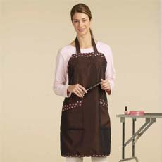 Top Performance Pawprint Trim Grooming Aprons #TP878