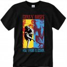 Guns N Roses Use Your ILLUSION Unisex Black T-Shirt Regular