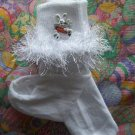 Fluffy Bunny Rabbit Crocheted Bobby Socks