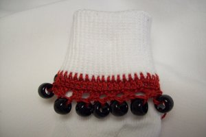 Black and Red Cheerleading/School Spirit Beaded Bobby Socks