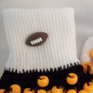 Black and Orange Football Spirit Beaded Bobby Socks