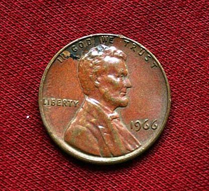United State of America Lincoln 1 Cent  1966