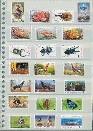 Thailand 10 Different MNH Complete Sets 2001/22pcs