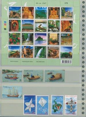 THAILAND-UNSEEN SHEET+2 Different MNH Complete Sets 2004-28pcs
