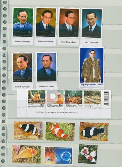 Thailand 60th Ann Celeb HM Acc Throne with Golden Stamp 2006+4 Complete set 17 pcs.