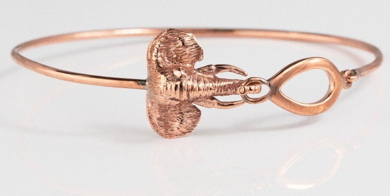 Copper Elephant Bangle