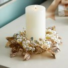Pearl Candle Wreath