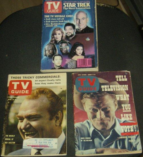 Vintage TV Guide LOT Star Trek Connors Skelton