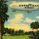 1940's Goodyear Blimp Postcard Miami FL