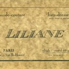 Vintage Retro Art Deco Business Calling Card Paris 1920