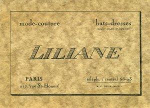 Vintage Retro Art Deco Business Calling Card Paris 1920