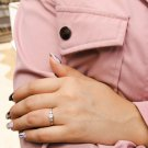 Sterling Silver CZ Ring, Diamonds CZ Ring, Simulated Diamonds Ring, Clear CZ Ring, Dainty Ring