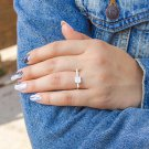 CZ Square Ring, Silver Solitaire CZ Ring, Diamonds CZ Ring, Simulated Diamonds Ring, Clear Cz Ring