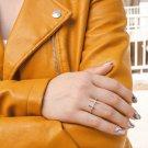 Diamond Cross Sterling Silver Ring, Sideways Cross Ring, Dainty Cross Ring ,Minimalist Cross Ring