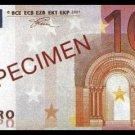 10 EURO SPECIMEN BANKNOTE - UNCIRKULATED