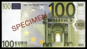 100 EURO SPECIMEN BANKNOTE - UNCIRKULATED