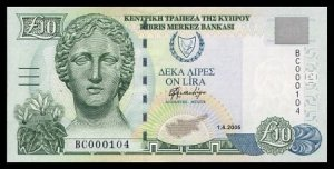 CYPRUS - 10 POUNDS 2005 - Pick NEW - UNCIRKULATED