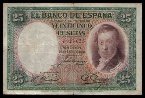 SPAIN - 25 PESETAS 1931