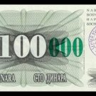 BOSNIA AND HERZEGOVINA - 100 000 Dinara 1993, Pick 56c, UNC