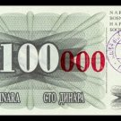 BOSNIA AND HERZEGOVINA - 100 000 Dinara 1993, Pick 56b, UNC