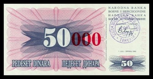 BOSNIA AND HERZEGOVINA - 50 000 Dinara 1993, Pick 55b, UNC