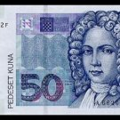CROATIA - 50 KUNA 2002, Pick 40, UNCIRKULATED