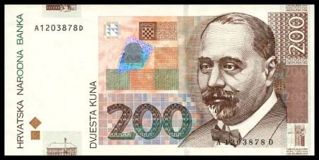 CROATIA - 200 KUNA 2001, Pick 42, UNCIRKULATED