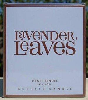 HENRI BENDEL Candle LAVENDER LEAVES Bath & Body Works scented - burns 60 hours!