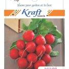 Radish Vegetable Seeds (Red) by Kraft Seeds 100 seed