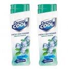Dermicool powder Menthol Regular 150g Each (Pack of 2)