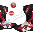 Ducati Top Quality Motorcycle Boots Genuine Leather Motorbike Racing Shoes