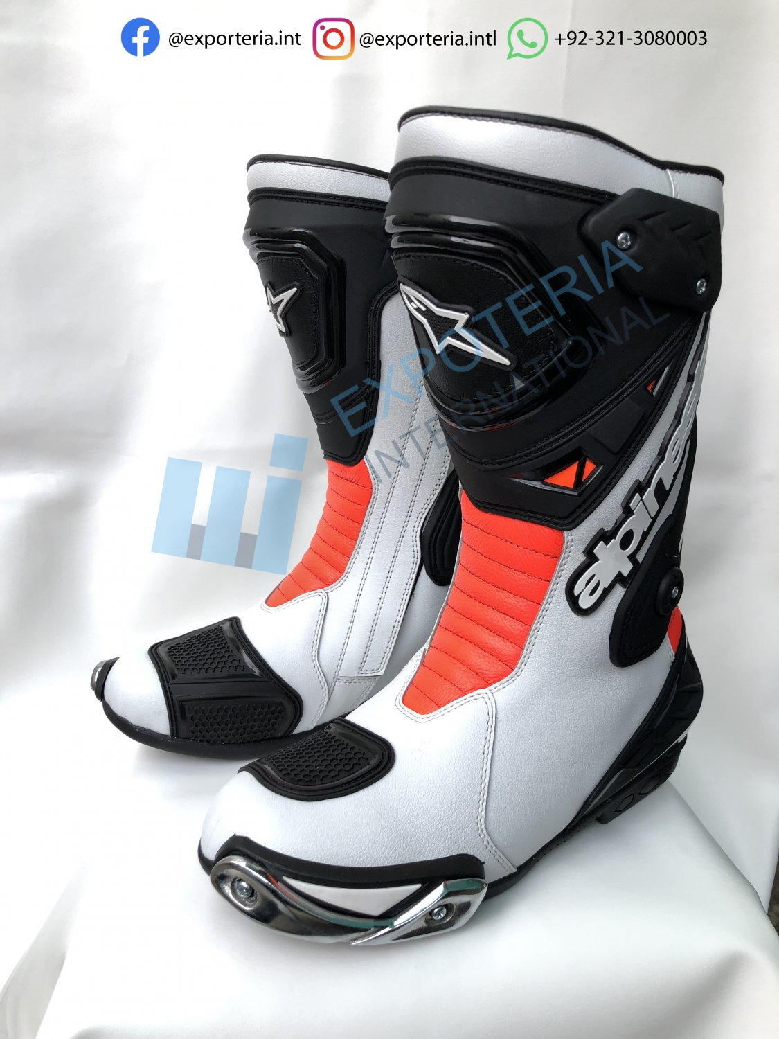 Alpinestars Top Quality Motorcycle Boots Genuine Leather Motorbike Racing Shoes