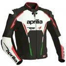 Aprilia Motorbike Jackets Cowhide Leather Biker Motorcycle Racing Sports Adults