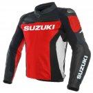 Suzuki GSXR Motorbike Jackets Biker Racer Motorcycle Leather Jacket Sport Zip Up