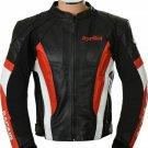 Aprilia Men CE Protected Armour Motorcycle Biker Racing Leather Jacket Motorbike