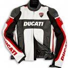 Ducati Men Motorcycle Jacket Street Racing Motorbike CE Armour Leather Sports