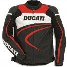 Ducati Men CE Protected Armour Motorcycle Biker Racing Leather Jacket Motorbike