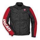 Ducati Cowhide Leather Men Protective Armour Motorcycle Motorbike Riding Jacket