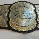 AEW World Heavyweight Champion Wrestling Belt Adult Size 2mm brass plates