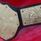"WCW Big Gold World Heavyweight Championship Belt ""hand tool Leather 4mm plates"""