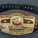 NEW Nwa Dome Globe Wrestling Belt ADULT Size 4mm Zinc Plates .Double Loop Lacing