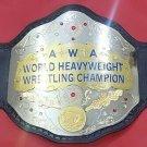 "AWA world heavyweight wrestling championship Title Belt "" Hand Tooling Leather"""