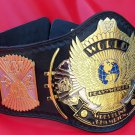 WWF Winged Eagle wrestling Championship dual plated belt with hand made leather
