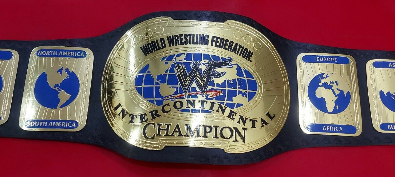 WWF OVAL INTERCONTINENTAL WORLD WRESTLING CHAMPION BELT 2MM BRASS