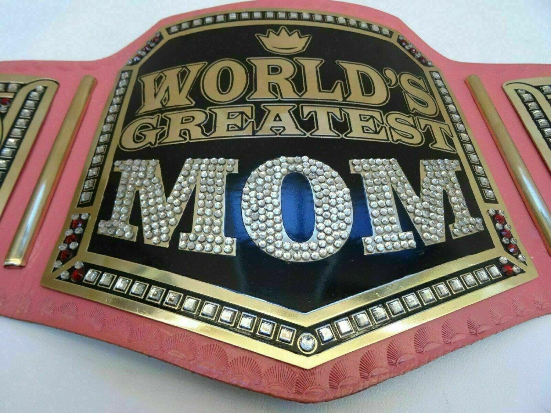 """World Greatest Mom Wresting Championship Belt """"Gift For MOM"""""""