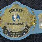 WWF Classic Gold Winged Eagle Wrestling Championship Belt Adult Size. Baby Blue