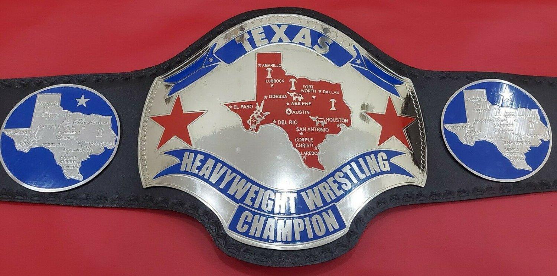 NWA TEXAS Heavyweight Wrestling championship belt.adult size
