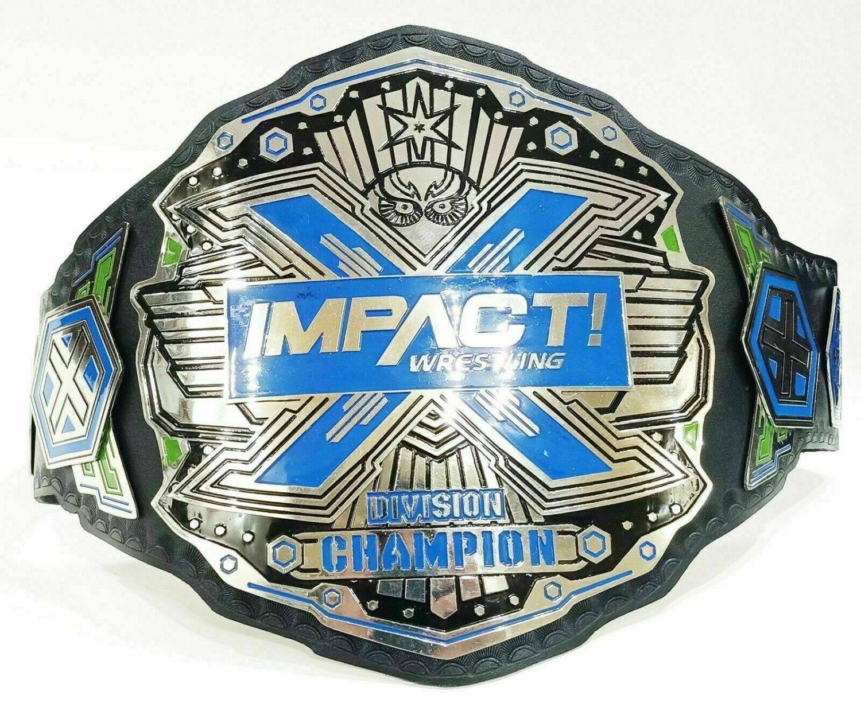TNA Impact X Division Wrestling Champion Title Belt